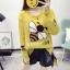 เสื้อผ้าเกาหลีพร้อมส่ง เวตเตอร์ไหมพรมแขนยาวทอลายผึ้งยอดฮิต thumbnail 3