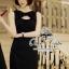 ( พร้อมส่งเสื้อผ้าเกาหลี) เดรสสีดำลุคเรียบหรู กิมมิคของชุดอยู่ที่ช่วงอกค่ะ ตกแต่งโบว์ เนื้อผ้าเรียบสวย thumbnail 1