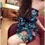 เสื้อผ้าเกาหลี พร้อมส่ง เดรสเกาะอก เนื้อผ้าcottonนุ่มนิ่มพิมพ์ลายดอกไม้ใบไม้คมชัด thumbnail 13