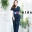 เสื้อผ้าเกาหลีพร้อมส่ง จั้มสูทขายาวทรงสวย thumbnail 6
