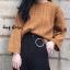 เสื้อผ้าเกาหลีพร้อมส่ง Smooch Sweater เสื้อไหมพรมแขนยาว thumbnail 7