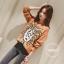 เสื้อผ้าเกาหลีพร้อมส่ง เสื้อไหมพรมถักลายตัวการ์ตูนหนานิ่มอย่างแนว thumbnail 3