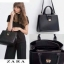 ZARA SQUARE CITY BAG กระเป๋าถือหรือสะพายรุ่นใหม่ชนช็อป! หนัง thumbnail 1