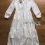 ชุดเดรสเกาหลีพร้อมส่ง เดรสผ้าคอตตอนตกแต่งลูกไม้สีขาวสไตล์ซัมเมอร์ thumbnail 9