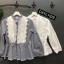 เสื้อผ้าเกาหลีพร้อมส่ง เสื้อผ้าคอตตอนแต่งลูกไม้ thumbnail 4
