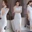 Sandra Snow Whitte Luxury Lace Dress thumbnail 7