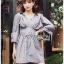เสื้อผ้าเกาหลีพร้อมส่ง มินิเชิ้ตเดรสผ้าลายทาง thumbnail 1