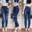 เสื้อผ้าแฟชั่นเกาหลีพร้อมส่ง กางเกงยีนส์ขายาวเอวสูง สไตล์ CPS CHAPS thumbnail 3