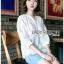 เสื้อผ้าแฟชั่นเกาหลีพร้อมส่ง เสื้อคอตตอนฉลุลายสไตล์วินเทจ thumbnail 4