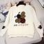 เสื้อผ้าเกาหลีพร้อมส่ง เวตเตอร์ไหมพรมแขนยาวทอลายผึ้งยอดฮิต thumbnail 8