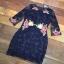 ชุดเดรสเกาหลี พร้อมส่งMini dress แขนยาวงานสวยงานปักและตัดเย็บเเน่นมากค่ะซับในเย็บติดผ้า thumbnail 15