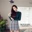 เสื้อผ้าเกาหลีพร้อมส่ง สำหรับงานไหมพรมเนื้อผ้าบางๆยืดหยุ่นได้สูงใส่กระชับ thumbnail 1