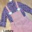 เสื้อผ้าแฟชั่นเกาหลีพร้อมส่ง Set 2 ชิ้นเสื้อคอเต่าแขน 4 ส่วน thumbnail 6