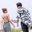 เสื้อผ้าเกาหลีพร้อมส่ง Jumpsuit ลายริ้วสายไขว้ด้านหลัง thumbnail 2