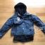 เสื้อผ้าเกาหลีพร้อมส่ง เซ็ตเสื้อแจ็กเก็ตเดนิมทับเสื้อโค้ทตกแต่งฮู้ดขนแกะสีน้ำเงินเข้ม thumbnail 14