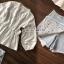 เสื้อผ้าเกาหลีพร้อมส่ง T-Shirt Circle Outfit Sweet Skirt Jean thumbnail 6