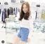 เสื้อผ้าเกาหลีพร้อมส่ง เดรสเชิ้ต คอปกแขนยาวสีขาว thumbnail 2
