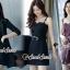 เสื้อผ้าเกาหลีพร้อมส่ง Chic Coral Pink&Black Cami Suite Set thumbnail 4