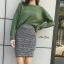 เสื้อผ้าแฟชั่นเกาหลีพร้อมส่ง กระโปรงผ้าpolyesterเนื้อดีเกรดเกาหลี ทอผสมกลิตเตอร์ thumbnail 6