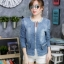 เสื้อผ้าแฟชั่นเกาหลีพร้อมส่ง เสื้อแจคแก็ตแขนยาวงานยีนส์ผ้าฟอกนิ่ม thumbnail 1