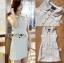 เสื้อผ้าเกาหลีพร้อมส่ง เชิ้ตเดรสผ้ามวีดทรงแขนกุดสุดหรู thumbnail 6