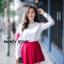 เสื้อผ้าเกาหลีพร้อมส่ง ขาวแดงงานดีก็มาคร้าาาาาา เหมือนเด็กญี่ปุ่นจริงงๆ thumbnail 9