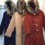 เสื้อผ้าแฟชั่นเกาหลีพร้อมส่ง โอเวอร์โค๊ท ผ้าวูลเนื้อแน่นซับใน thumbnail 2