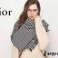 เสื้อผ้าเกาหลีพร้อมส่ง ผ้าพันคอปัก Dior ตัวป้าย แท็ก ทั้งหมดเป็น Dior thumbnail 9