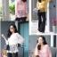 เสื้อลูกไม้ถักโคเชร่ลายดอกใหญ่ใส่น่ารัก thumbnail 11
