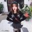 ชุดเดรสเกาหลีพร้อมส่ง เดรสสีดำดูลึกลับน่าค้นหา thumbnail 6