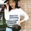 เสื้อผ้าเกาหลีพร้อมส่ง เสื้อแขนยาวสกรีนลายอักษรผ้านิ่มเนื้อดี thumbnail 4