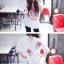 เสื้อผ้าเกาหลี พร้อมส่งเสื้อตัวยาว พิมพ์ลาย Daisy Duck thumbnail 7