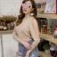เสื้อผ้าเกาหลีพร้อมส่ง เสื้อแขนเว้าต่อซีทรู เนื้อผ้าวิ้ง thumbnail 9