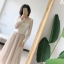 เสื้อผ้าเกาหลีพร้อมส่ง เสื้อครอปแขนยาวทรงคอร์เซ็ทลูกไม้เข้ารูป thumbnail 3