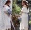 Molly Sweet Feminine Off-Shoulder White Lace Dress thumbnail 2