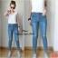 เสื้อผ้าเกาหลีพร้อมส่ง กางเกงยีนส์ แฟชั่น ขายาว ทรงเดป thumbnail 2