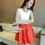 (พร้อมส่ง)ชุดเข้าเซ็ทเสื้อกับกระโปรง พร้อมสร้อยค่ะ ชุดนี้ full options เลยค่ะ เสื้อทรงแขนกุดเข้ารูปสวยๆ กระโปรงสีแดงตัดต่อเป็นขั้นระบายทรงA พร้อมเข็มขัด thumbnail 6