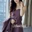 เสื้อผ้าเกาหลีพร้อมส่ง Chic Coral Pink&Black Cami Suite Set thumbnail 13