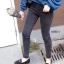 เสื้อผ้าเกาหลีพร้อมส่ง กางเกงยีนส์ขายาว เอวกลาง thumbnail 8