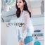เสื้อผ้าเกาหลีพร้อมส่ง บอมเบอร์แจ็คเก็ตผ้าลูกไม้ลายดอกไม้ thumbnail 5