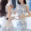 ชุดเดรสเกาหลีพร้อมส่ง Sweet Lace Bule Suquin Dress thumbnail 3