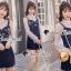 เสื้อผ้าเกาหลีพร้อมส่ง Pinky Flora Stick Cami Denim Dress Set thumbnail 9
