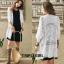 เสื้อผ้าเกาหลีพร้อมส่ง เสื้อคลุมงานทอปักถักเนื้อผ้า Cotton thumbnail 3