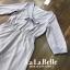 เสื้อผ้าเกาหลีพร้อมส่ง จั้มสูทกางเกงขาสั้นคอวีผูกโบว์หน้า thumbnail 4