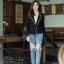 เสื้อผ้าแฟชั่นพร้อมส่ง งานดีไซน์แนวเกาหลี ใช้ผ้าไหมพรม thumbnail 9