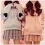 เสื้อผ้าเกาหลีพร้อส่ง เสื้อกันหนาวมีฮู้ด แต่งรูปหัวใจตรงแขน2ข้าง thumbnail 2