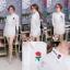เสื้อผ้าเกาหลีพร้อมส่ง เดรสเชิ้ตคอปกแขนยาว กระดุมครึ่งตัว ปักกุหลาบ thumbnail 14