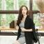 เสื้อผ้าแฟชั่นเกาหลีพร้อมส่ง เสื้อคลุมเบเซอร์สีดำ รุ่นนี้ทรงปล่อยๆ thumbnail 3