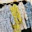 เสื้อผ้าเกาหลีพร้อมส่ง จั้มสุทลายดอกซากุระ thumbnail 1