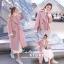เสื้อผ้าเกาหลีพร้อมส่ง Overcoat เนื้อผ้าสำลีสีพื้นเนื้อแน่น thumbnail 3